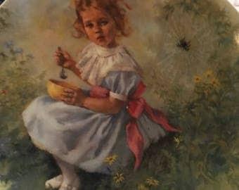 Little Miss Muffet by John McClelland collector plate