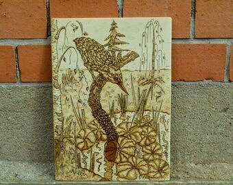 Image image of wood, pyrography, brand image, appearance, unique,