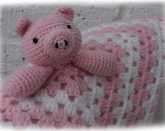 Piggy Comforter/Lovey Crochet Pattern