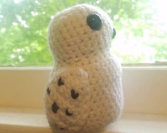 Mini Stuffed Owl * Snowy * Amigurumi *  Crochet * Hedwig Harry Potter