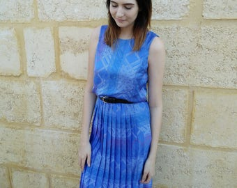 Reworked 1980's Pleated Dress