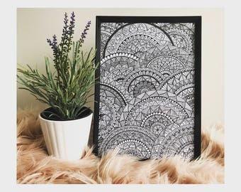 Mandala ZenTangle - Print