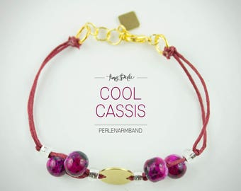 "Pearl bracelet ""cool Cassis"""