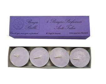 4 scented candles Anti tobacco craft wax soy natural duration 24 h
