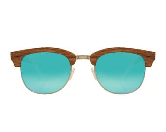 "Wooden sunglasses | Clubmaster sunglasses | ""Cape Town"" wooden model 