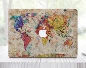 World Map Decal Macbook Decal MacBook Air 11 Laptop Vinyl Sticker Apple Mac Decal Mac Pro Decal MacBook Pro 13 Decal Pro 13 2016 ES0002