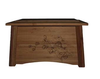 Bamboo urns – Orchid engraving