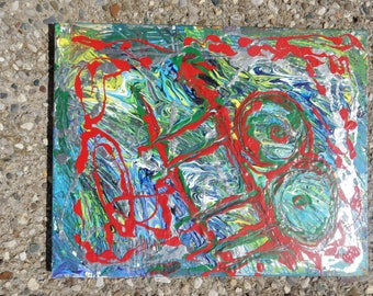 JSlider's abstract expressionist painting