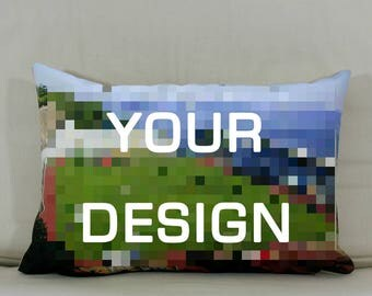 "Cushion: Your design (Landscape - 19""x13"")"