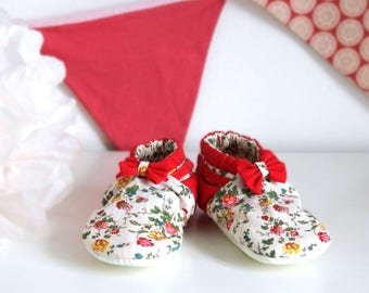 Liberty baby shoes handmade in France