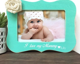 I love my Mommy Personalized Picture Frame Gift // Personalized Gift // Mother's Day Gift // Gift from Daughter // Gift Idea for Mom