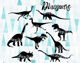 Dinosaurs SVG, Dinosaurs bundle Svg, Dino Svg, TRex SVG, Dinosaurs Silhouette, Dinosaurs Clipart, Instant download, Eps - Dxf - Png - Svg
