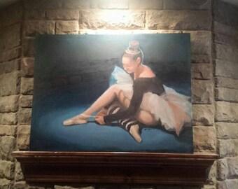 Ballerina, oil, painting, canvas, artist, fine art, ballet, tutu, dance, dancer, art