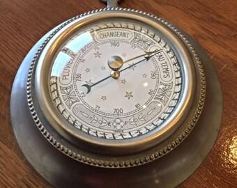 Vintage pewter to PARIS barometer authentic diameter 14 cm