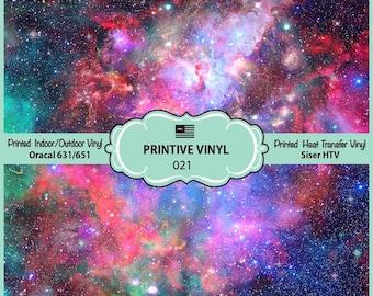 Galaxy Nebula Pattern Printed Vinyl/Siser HTV/ Oracal/ Indoor Vinyl/ Outdoor Vinyl/ Heat Transfer Vinyl- 021