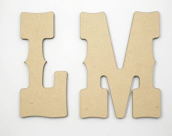 25cm MDF Wood Wooden Letters 3mm Thick WES
