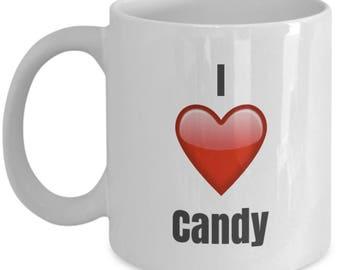 I Love Candy unique ceramic coffee mug Gifts Idea