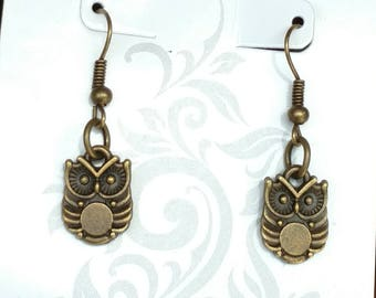 Bronze Owl Earrings