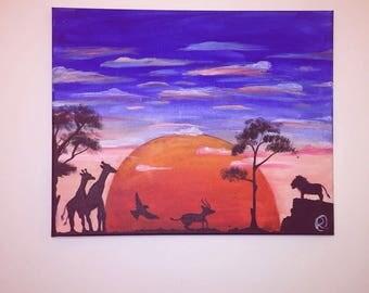 Motherland Sunset Original Handmade Painting