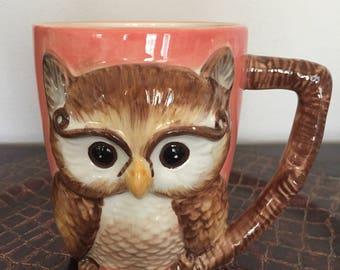 Vintage - esque Owl Mug