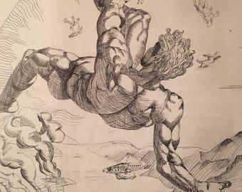 Fall of Phaethon Renaissance Art Recreation