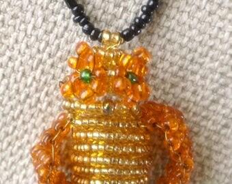 Owl of beads (keychain)