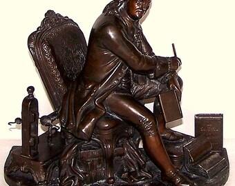 Benjamin Franklin Bronze antique 19th century