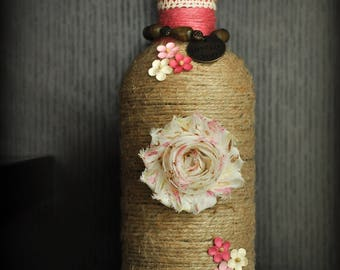 Pink inspired Decorative Bottle