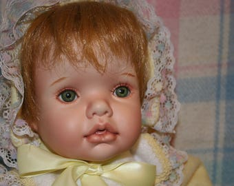 """CUDDLES ~ Hand Crafted OOAK Porcelain Doll ~ 21"""" Tall Baby Girl ~ Sculpted by Theresa LoBue"""