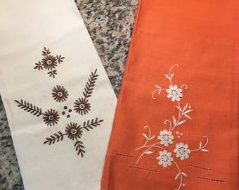 Embroidered Dish Towels