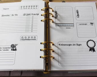 Day planner 1D2S for 1 year (366 pages)