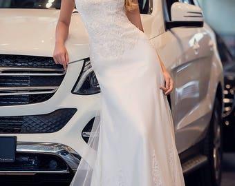 Wedding dress,  A-siluet wedding dress, lace wedding dress