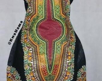 Black dashiki dress, Dashiki dress, African dashiki dress