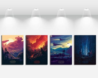 Creative Briefs Movie Posters for Star Wars Art Print on Canvas Home Wall Decor