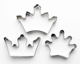 3pcs/Set Crown Cookie Cutters- Fondant Biscuit Mold - Pastry Baking Tool Set