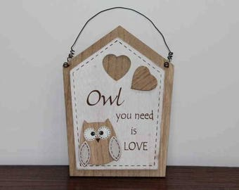 Owl You Need Is Love Decoration