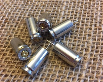 9mm Bullet Casing Push Pins - set of 6