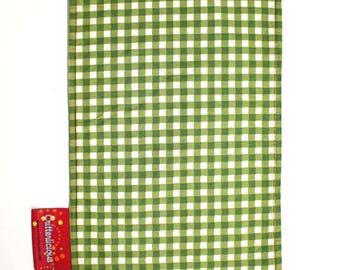 Critterlicious Green Plaid Burp Cloth