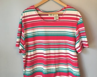 Vintage Women's Striped 80s 90s T Shirt