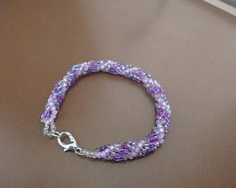 Purple Spiral Rope Bracelet