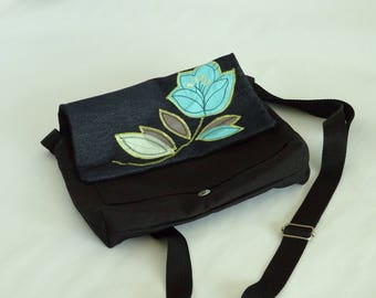 Bag shoulder bag flower