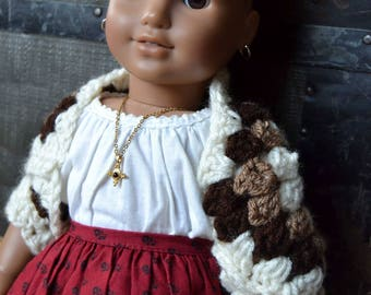 "Granny Square Shrug for 18"" Doll"