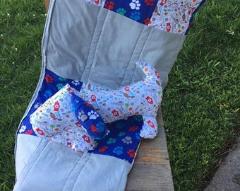 Handmade Doggy Baby Quilt and Doggy Stuffie