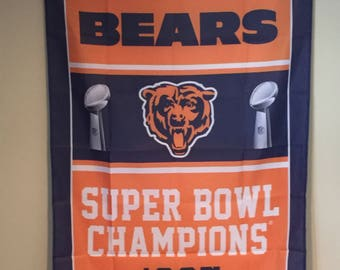 Chicago Bears Super Bowl Champions Wall Banner