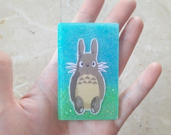 Creating with Stickers and Glitter of Totoro. Various options for use. You choose! HANDMADE