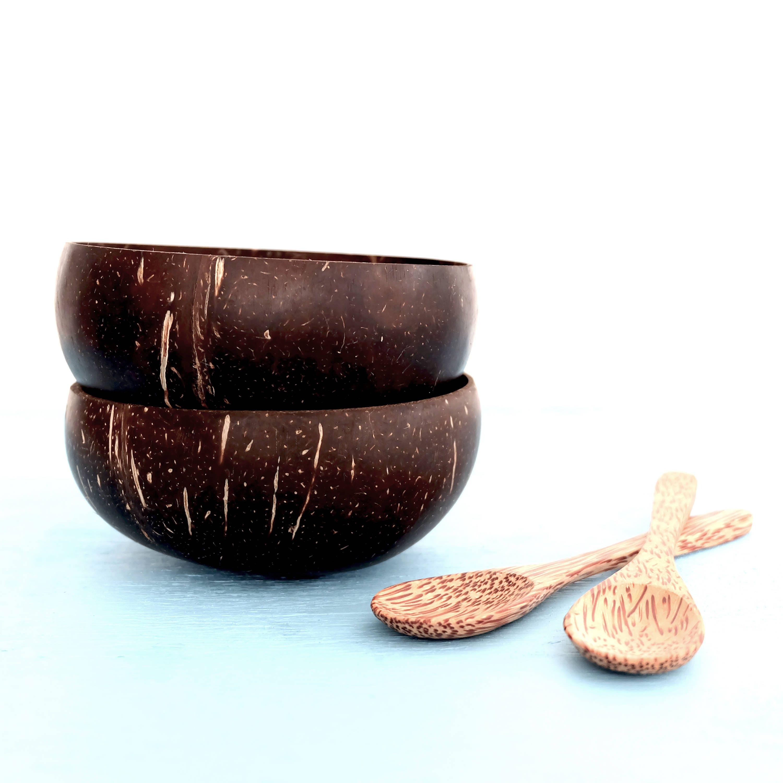 cuill re bol de noix de coco ensemble cuvette de coquille. Black Bedroom Furniture Sets. Home Design Ideas
