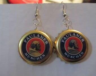 Paulaner Munchen Bottlecap Earrings
