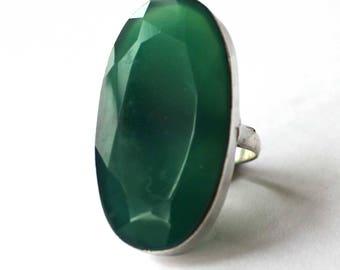 Oval Green Aventurine ring (Medium)