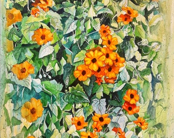 Amber blossoms : orange black eyed susan flowers