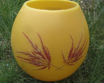 Japanese Maple Leaf,Beeswax Lantern,Bees wax Globe, Nature Gifts Colorado, Hurricane Candles, Zen Home Decor, Unique Soft Light